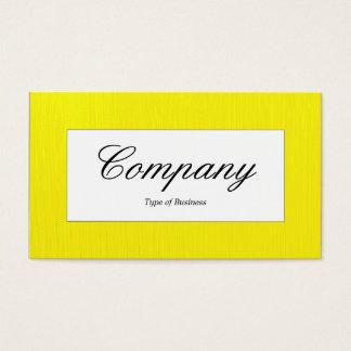 Cartes De Visite Étiquette central - jaune peint