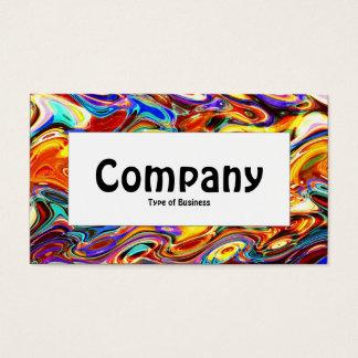 Cartes De Visite Étiquette central - mélange 01 de couleur