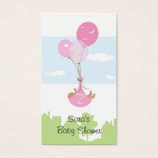 Cartes De Visite Étiquette de cadeau de baby shower de ballon de