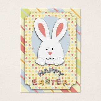 Cartes De Visite Étiquette de cadeau de lapin de Pâques