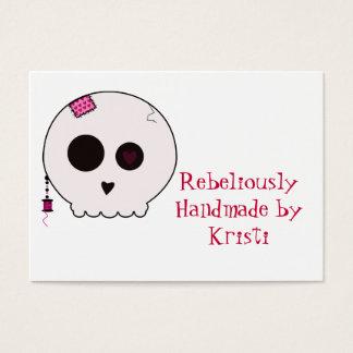Cartes De Visite Étiquette de coup de Crafter de Skully