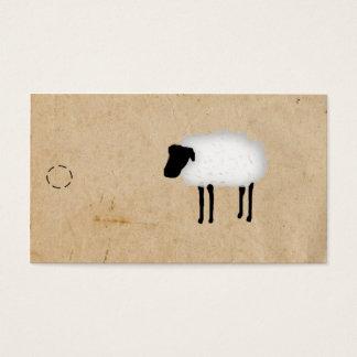Cartes De Visite Étiquette de coup de moutons