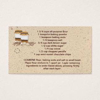 Cartes De Visite Étiquette de coup de préparation de biscuit de pot