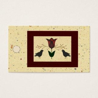 Cartes De Visite Étiquette de coup de tulipe et de corneilles