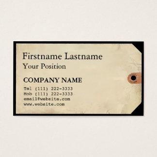 Cartes De Visite Étiquette de musée