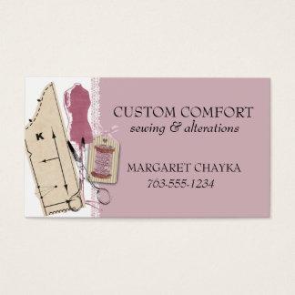 Cartes De Visite Étiquette factice de couture de cadeau de robe de