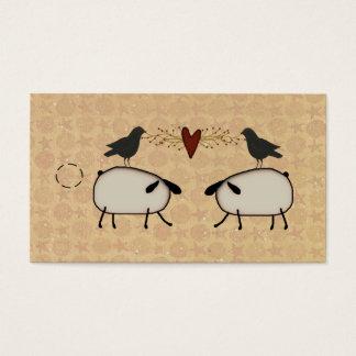 Cartes De Visite Étiquette primitive de coup de moutons et de