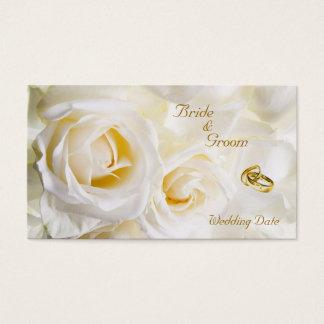 Cartes De Visite Étiquette rêveuse d'or de faveur de mariage