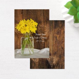 Cartes De Visite Étiquettes de faveur de pot de maçon et de mariage