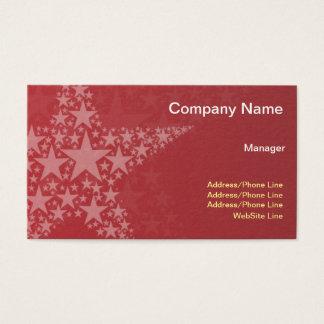 Cartes De Visite Étoiles élégantes simples de rouge