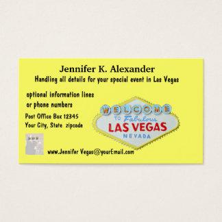 Cartes De Visite Événements de planificateur de partie de Las Vegas
