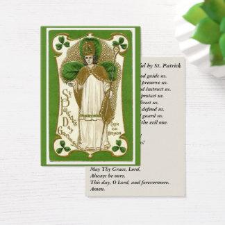 Cartes De Visite Évêque Prayer de shamrocks de St Patrick