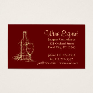 Cartes De Visite Expert en matière de vin