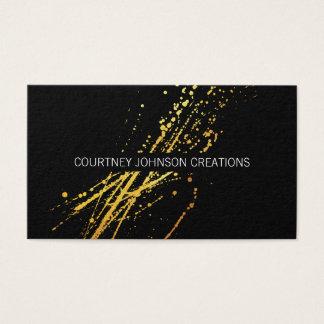Cartes De Visite Expressif artistique d'or