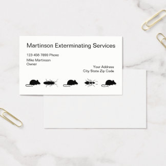 Cartes De Visite Exterminateur simple Businesscards