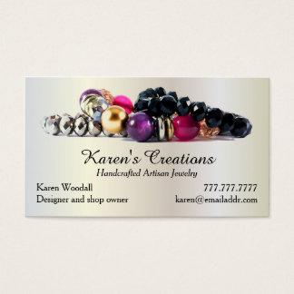Cartes De Visite Fabricant élégant de concepteur de bijoux ou de
