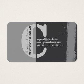 Cartes De Visite Faisant à une marque C audacieux unisexe décoré