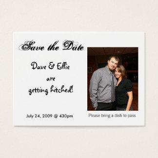 Cartes De Visite Faites gagner la date, Dave et Ellie sont g…