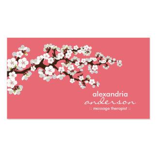 Cartes de visite faits sur commande de fleurs de c cartes de visite professionnelles