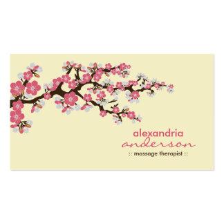 Cartes de visite faits sur commande de fleurs de c modèle de carte de visite