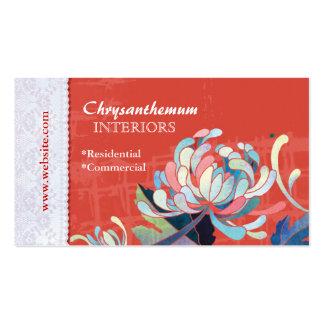 Cartes de visite faits sur commande rouges de carte de visite standard