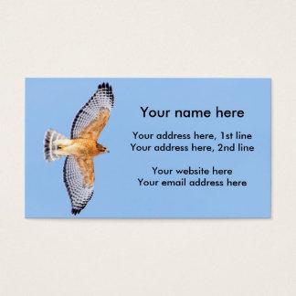 Cartes De Visite Faucon épaulé rouge en vol