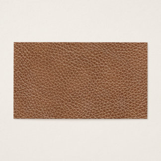 Cartes De Visite Faux Brown naturel en cuir