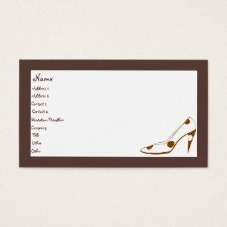 Cartes de visite féminins élégants de mode