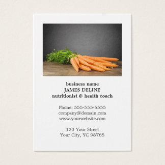 Cartes De Visite Ferme organique de santé unique de carottes