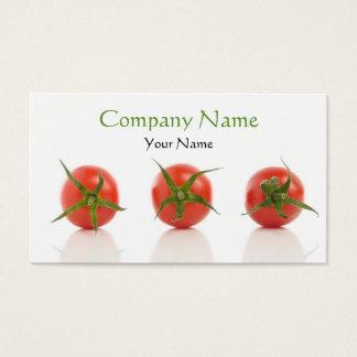 Cartes De Visite Ferme organique de tomate de santé élégante de