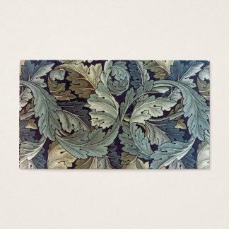Cartes De Visite Feuille d'acanthe de textile de William Morris