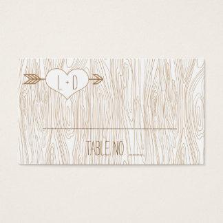 Cartes De Visite Fibre de bois rustique épousant Placecards