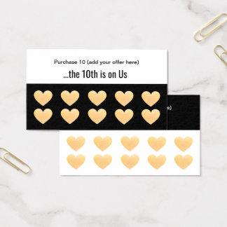 Cartes De Visite Fidélité de client de poinçon de salon du coeur 10