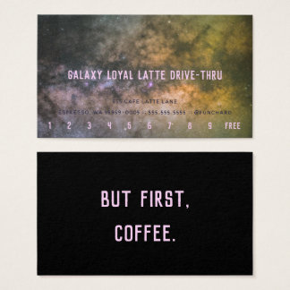 Cartes De Visite Fidélité Latte Commande-À travers la photo de