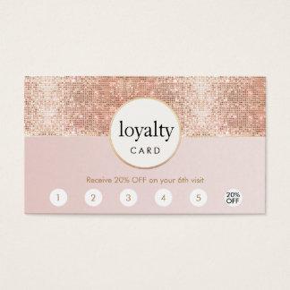 Cartes De Visite Fidélité rose et rose de poinçon du salon 6 de