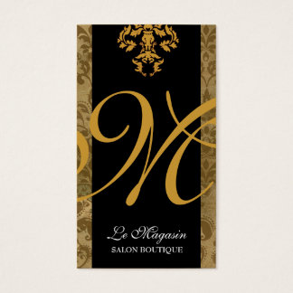 Cartes De Visite Fièvre de l'or de monogramme de 311 Marley