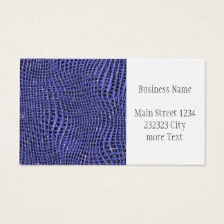 Cartes De Visite Filet de scintillement en métal, bleu