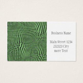 Cartes De Visite Filet de scintillement en métal, vert