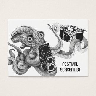 Cartes De Visite Film d'appareil-photo de poulpe de film