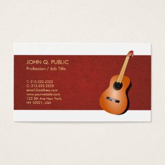 Cartes De Visite Finition en soie élégante de guitare de professeur