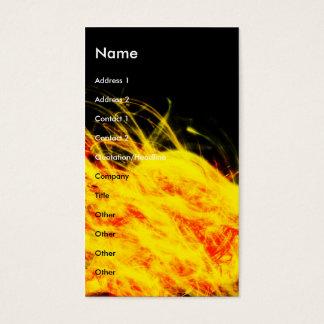 Cartes De Visite Flammes |