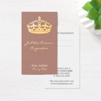 Cartes De Visite Flanelle de faux d'orchidée de couronne de jubilé