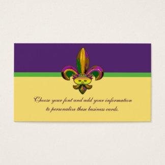 Cartes De Visite Fleur de lis Mask