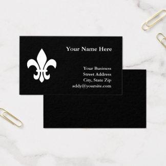Cartes De Visite Fleur de Lis noir et blanc
