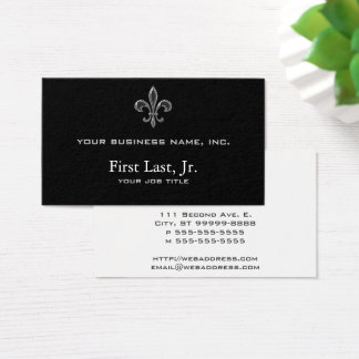 Cartes De Visite Fleur De Lis - Stripey