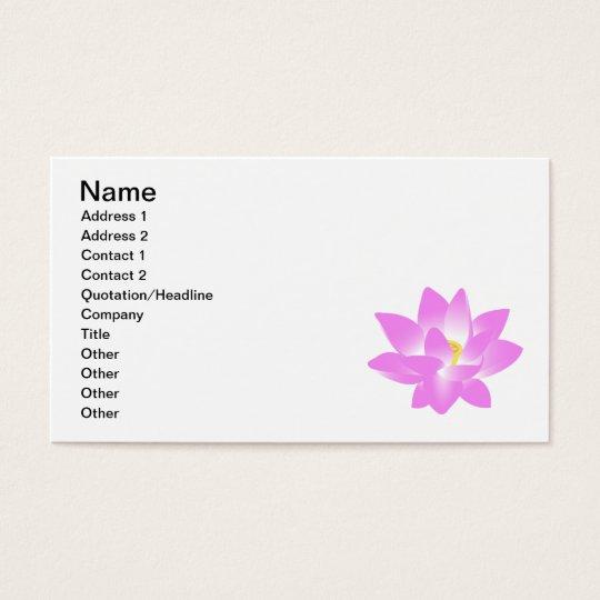 Cartes De Visite Fleur Lotus Rose