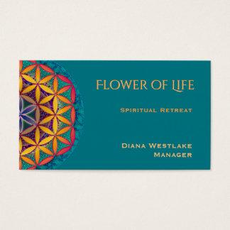 Cartes De Visite Fleur de retraite de chant religieux de la vie