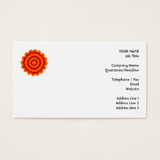 Cartes De Visite Fleur géniale en orange et rouge