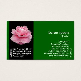 Cartes De Visite Fleur noire de bande latérale - camélia rose II -
