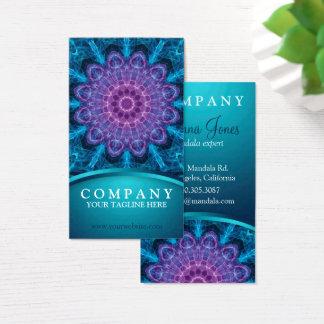Cartes De Visite Fleur pourpre spirituelle, mer de bleu